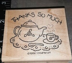 Thanks so much, teapot scene stampin up, C5,rubber, wood