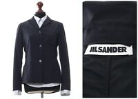 Women's JIL SANDER Blazer Coat Jacket Wool Nylon Navy Blue Size EU 38 US 8