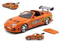 JADA Fast And Furious Brian's Toyota Supra 1:24 Orange Diecast Car