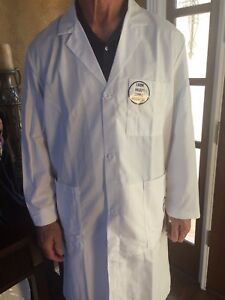"Men's 1st Quality Meta Fine Twill Lab Coats 38"" Sizes:46L-56 $14.00 Reg & Long"