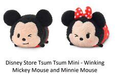 Disney Store Mickey and Minnie Mouse Tsum Tsum Expressions Plush Mini B71 NWT