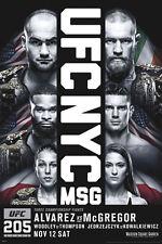 UFC 205 Official Poster NYC MSG CONOR MCGREGOR vs Eddie Alvarez 11/12/2016