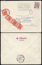 FRANCE POSTAGE DUE 1959 VIERZON REDIRECTED 40F