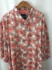 0d28451f Tommy Bahama Shirt Size Large Red Shell We Dance 100% Silk Camp Caliente A23