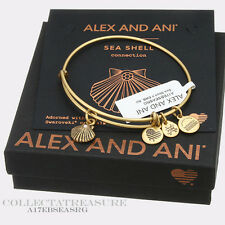 Authentic Alex and Ani Sea Shell (ii) Rafaelian Gold Charm Bangle