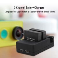 TELESIN 3 Channel Battery Charger Wifi Remote Control Charger for Gopro 6 5 4