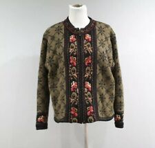 Icelandic Designs Sweater Jacket Womens Size Large L Full Zip Lined