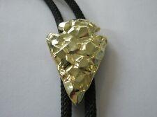 Metal Arrowhead Bolo Tie Ic 33 Arrowhead Bolo , Handcrafted Gold Tone Distressed