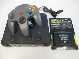 Nintendo 64 N64 Console System + ED64 EverDrive 64 Plus + SD 8GB w/ 346 games
