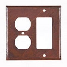 IRVIN'S TINWARE RUSTIC UNPIERCED ROCKER AND OUTLET SWITCH COVER