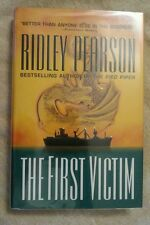 SIGNED The First Victim by Ridley Pearson 1999 HCDJ 1st Edition 1st Print