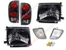 Black Headlights + Taillights + Bumper lights for 98-00 Tacoma 4WD / PreRunner