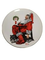"""""""The Day After Christmas"""" Decorative Collectible Santa Plate By Norman Rockwell"""
