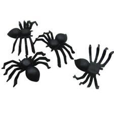 20 PC Halloween Plastic Black Spider Joking Toys Decoration Realistic