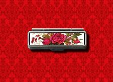 ROSE FLOWERS FLORAL VINTAGE LIP BALM GUM COTTON SWAB MAKEUP LIPSTICK CASE HOLDER