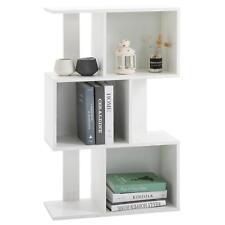 Raumteiler Raumtrenner Bücherregal in weiß Deko Standregal mit 6 Fächern CD DVD