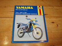 Haynes Manual for Yamaha RD & DT125 LC 1982-1987.