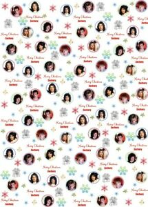 Personalised Queen Christmas Wrapping Paper.