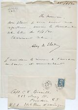 Henri Hay De Slade French World War I Ace 19 Aerial Victories Signed Letter Rare