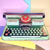 Vintage Mettoy Super Type Typewriter, Tinplate Collectors Vintage Toy