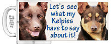 "KELPIE RED AND RED N' TAN DOGS  ""HIGH DETAILED"" IMAGE COFFEE MUG."