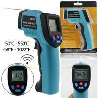 Digital Laser Thermometer Berührungslos IR Infrarot LCD Temperatur -50 to 550℃