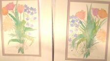 """Pair of Signed Original Matched Paintings Chantilly III & IV 21"""" X 14"""" 1988"""