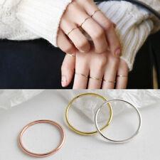 Schmaler Damen Ring 1,2 mm echt Sterling Silber 925 43 - 59 dünn rosegold