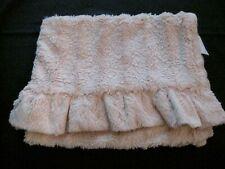 Nicole Miller Home Baby Blanket Pink Ruffles Plush Throw 29 x 44