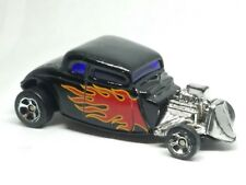 Maisto 1934 Ford Hot Rod Black with Flames 1/64 Scale Diecast