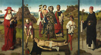 Painting Bouts Martyrdom Of St Erasmus Tryptich Wall Canvas Art Print