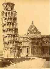 Van Lint, Italia, Pisa, Campanile del Duomo Vintage albumen print. Italy.  Tir