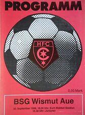 Programm 1988/89 HFC Chemie - Wismut Aue