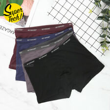 Mens Boxer Briefs Bamboo Fiber Breathable Underwear Trunks Underpants Knickers