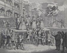 The Beggar's (Beggars) Opera Burlesque (c1870) William Hogarth - Steel Engraving
