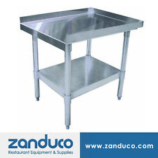 """Zanduco 30"""" X 24"""" Stainless Steel Commercial Prep Equipment Stand and Undershelf"""