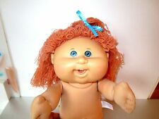 "Cabbage Patch Modern 2005 Wiggle & Giggles 14"" Red Hair Gray Eyes NO Clothes  J7"