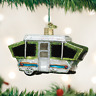 Travel Tent Camper Van Car Old World Christmas Tree Ornament Glass NWT 46068