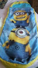Junior inflatable Ready Bed sleeping bag Minions boy girl 3-10 yrs