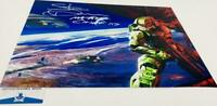 Steve Downes signed Master Chief 11X14 Metallic photo HALO BAS M62093