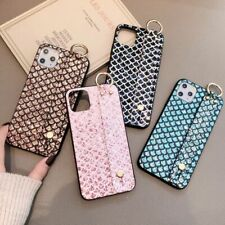 Luxury Bling Glitter Wrist Strap Case Fish Pattern Cover for iPhone 11 X XR XS 8