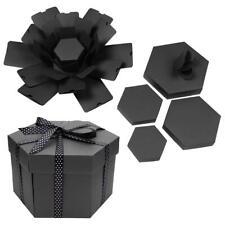 Explosion Box Hexagonal DIY Photo Album Scrapbooking Bomb Box Gift Boxes Black