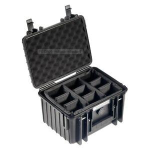 B&W Outdoor Case 2000 - mit Facheinteilung (RPD) - Schutzkoffer - schwarz