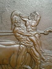 Signed Albert Gilles Copper Art Creation designed for Mae West