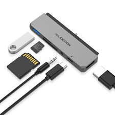 LENTION USB-C Hub to USB 3.0 HDMI Jack Adapter SD Card Reader for New iPad Pro