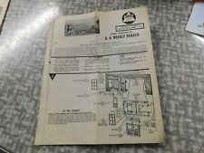 Ahm H.O. Weekly Herald instructions kit # 5858
