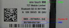Alcatel Unlock Code  7024 7040 5020N 6033M Y910 S710 4015T 875 6030D 8008D C918