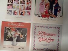 COLLECTIBLE AVON CALENDARS - 1982, 1983, 1985, 1986 All With Original Jackets
