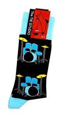 Musical Blue Drum Kit Socks - Music Themed Gift - Musical Socks - Drum Socks