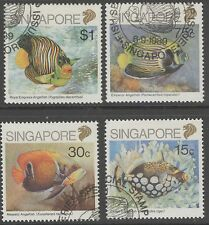Elizabeth II (1952-Now) Fish Singapore Stamps (1824-1963)